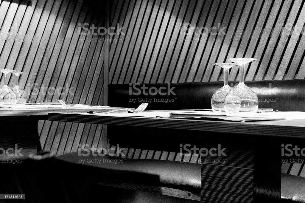 Restaurant. Black and White royalty-free stock photo