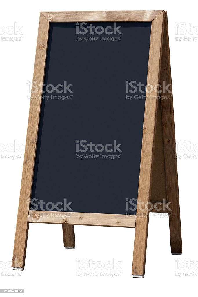 Restaurant blackboard display isolated with clipping path stock photo