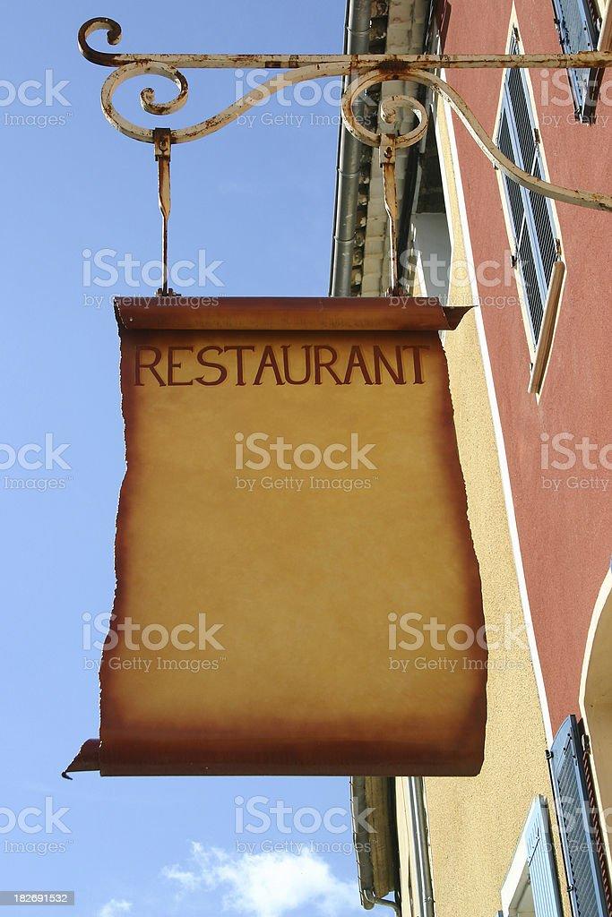 Restaurant board royalty-free stock photo
