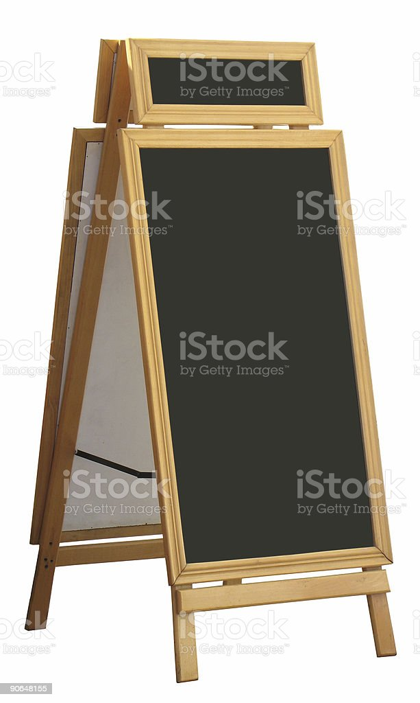 Restaurant board stock photo