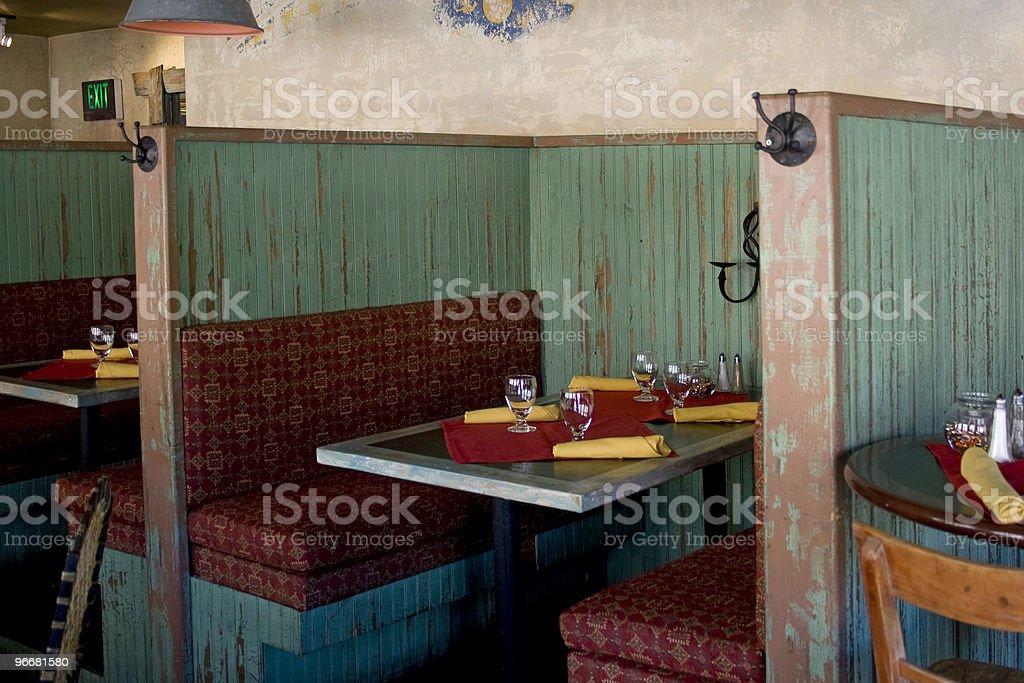 Restaurant Booth stock photo