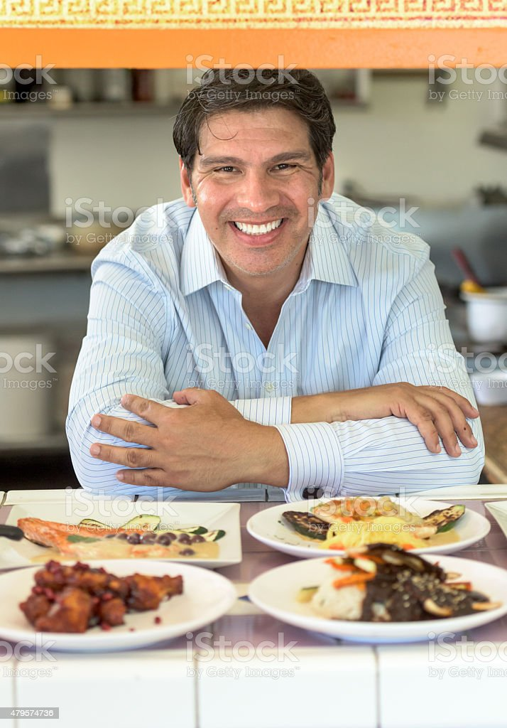 Restaurant Business Owner stock photo