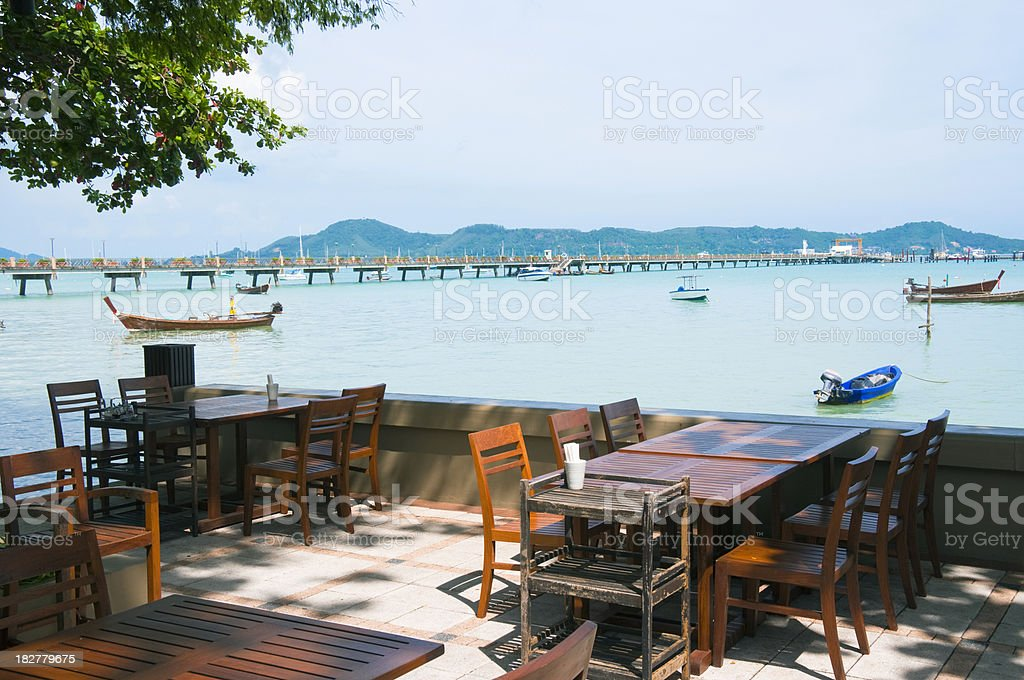 Restaurant By The Sea In Phuket, Thailand stock photo
