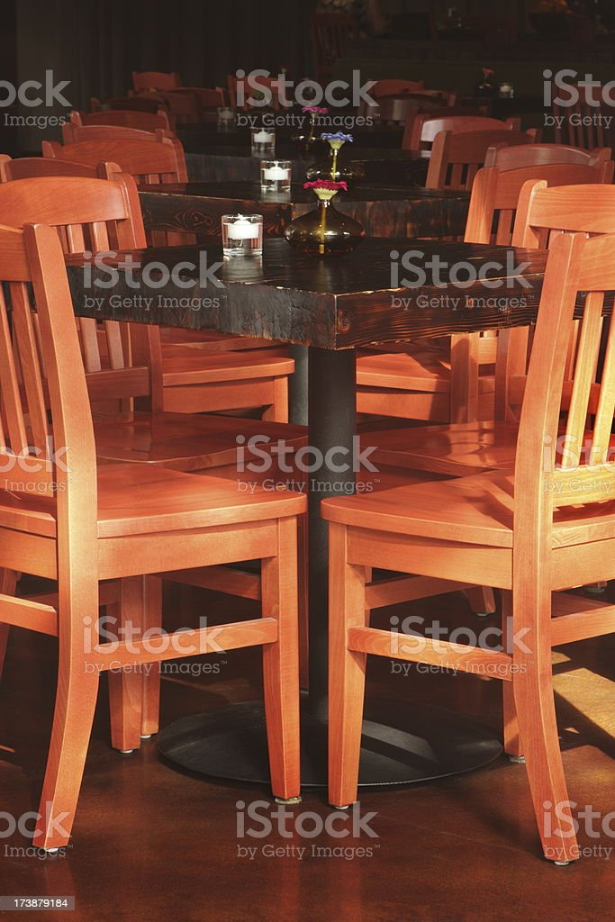 Restaurant Chairs Tables Cafe Bistro royalty-free stock photo