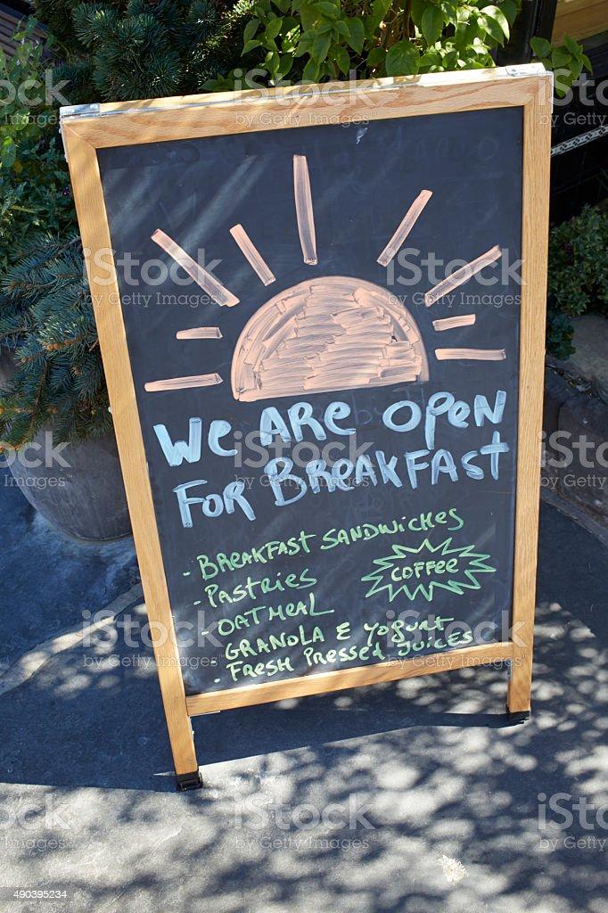 Restaurant Chalkboard stock photo
