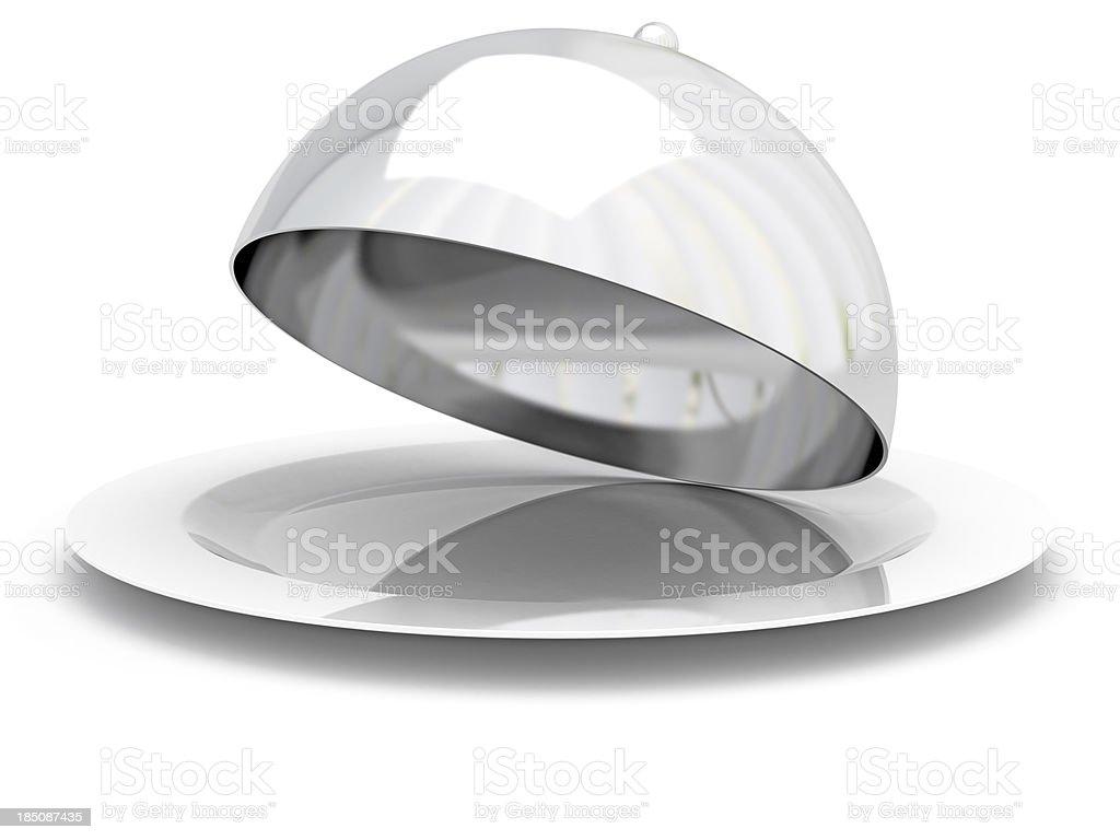 Restaurant cloche stock photo