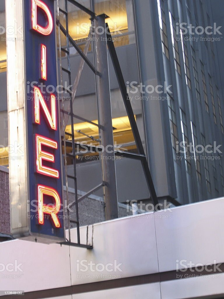 Restaurant Diner Sign royalty-free stock photo