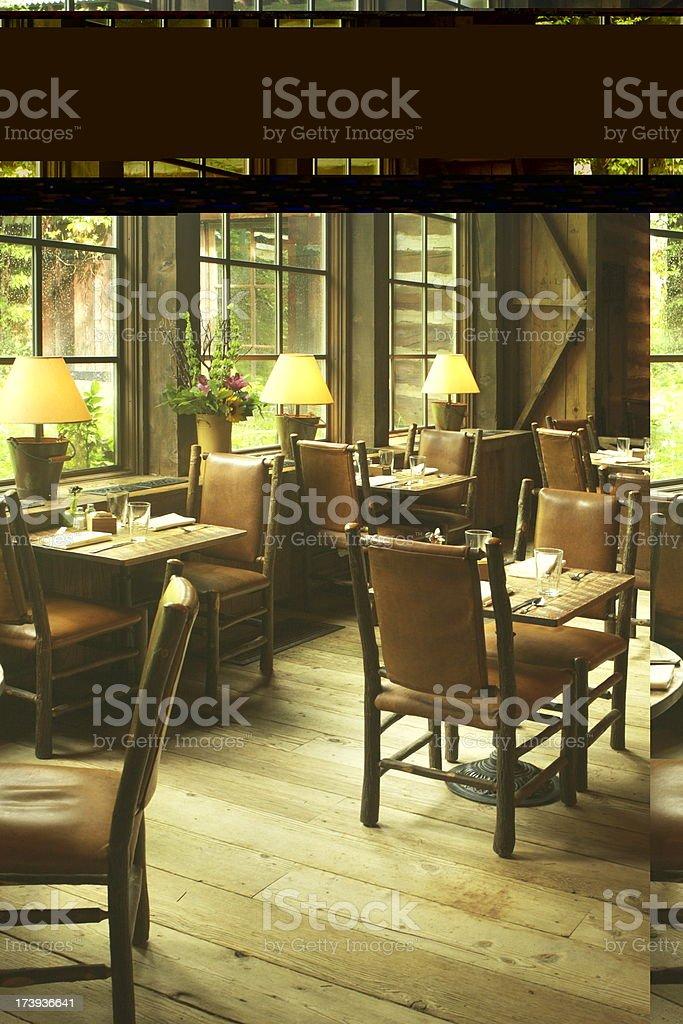 Restaurant Dining Room Sundance Decor stock photo