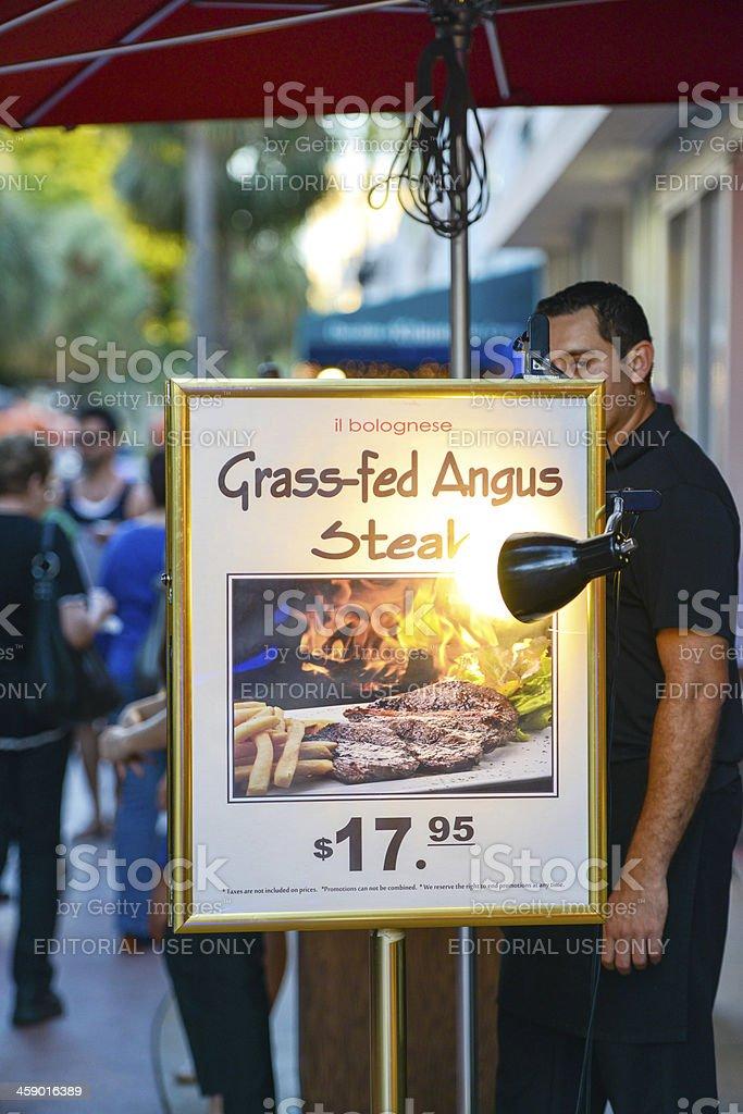 Restaurant Entrance, Miami Beach royalty-free stock photo