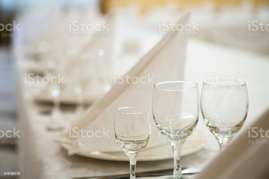 Restaurant event. Banquet, wedding, celebration stock photo