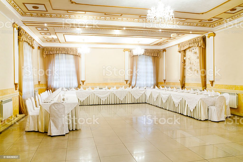 Restaurant event. Banquet, wedding, celebration stock photo
