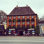 Restaurant facade in Copenhagen, Denmark