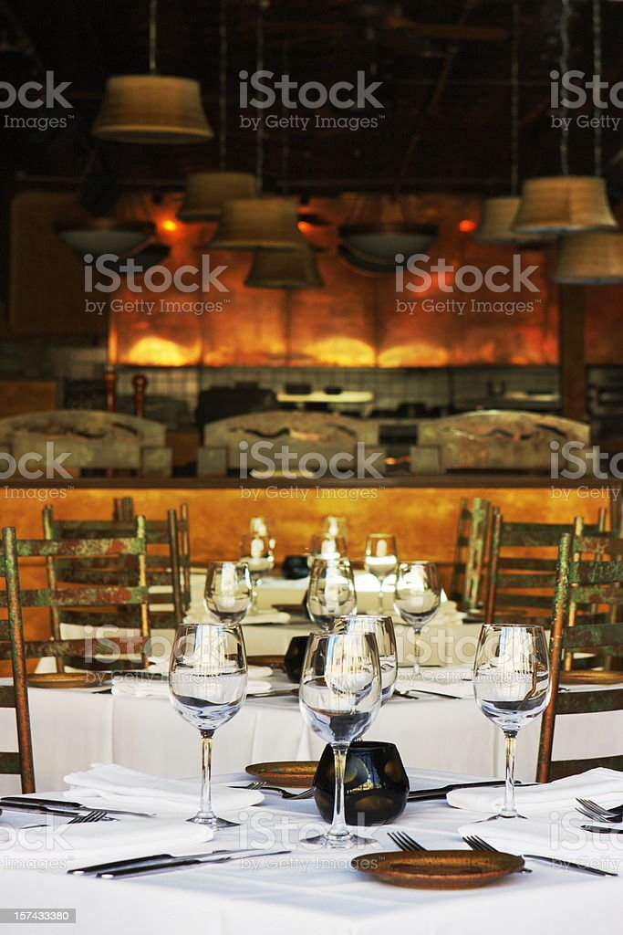 Restaurant Fine Dining Gourmet Place Setting stock photo