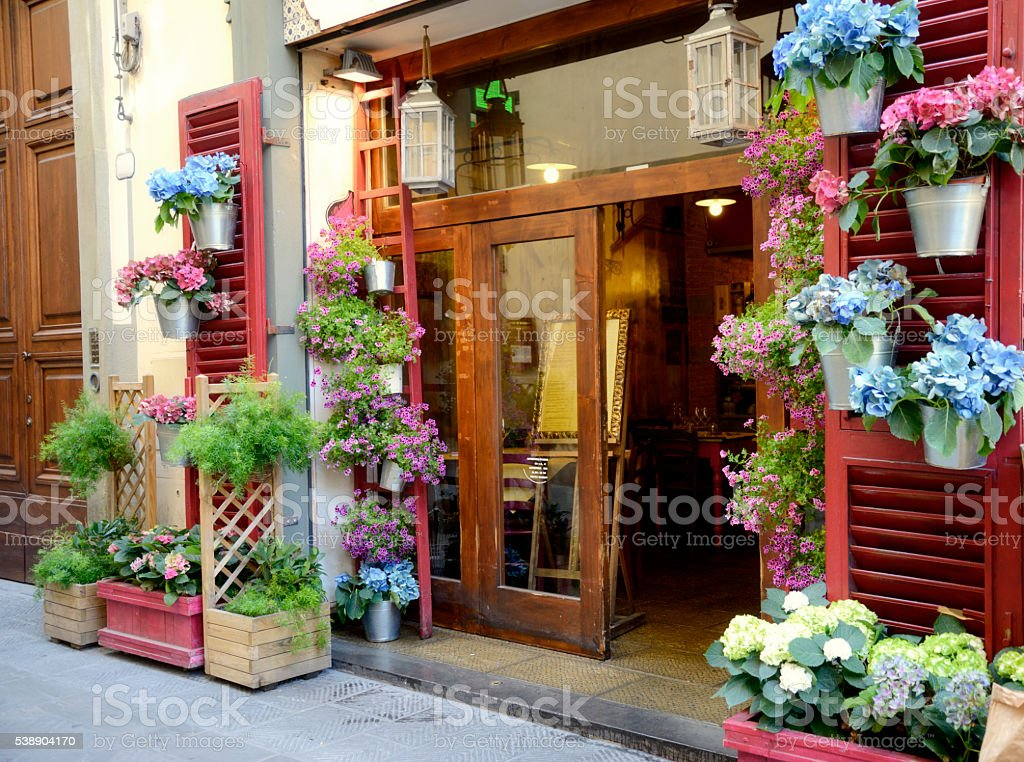 Restaurant, Florence stock photo