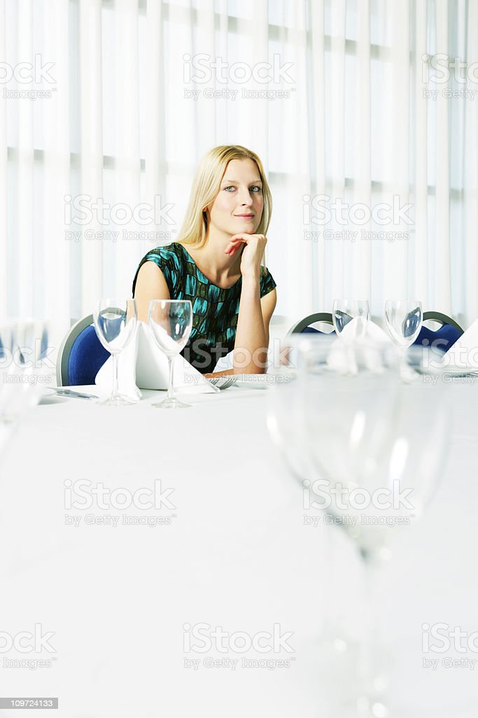 Restaurant girl royalty-free stock photo