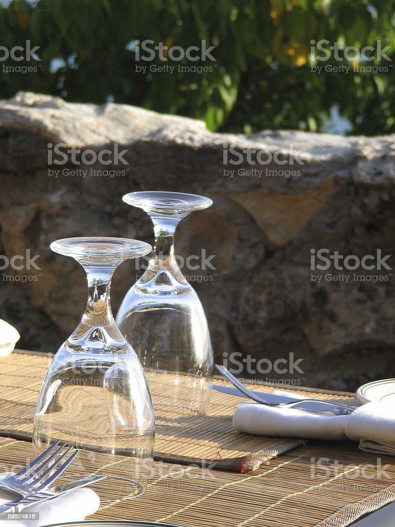 Restaurant Glasses royalty-free stock photo