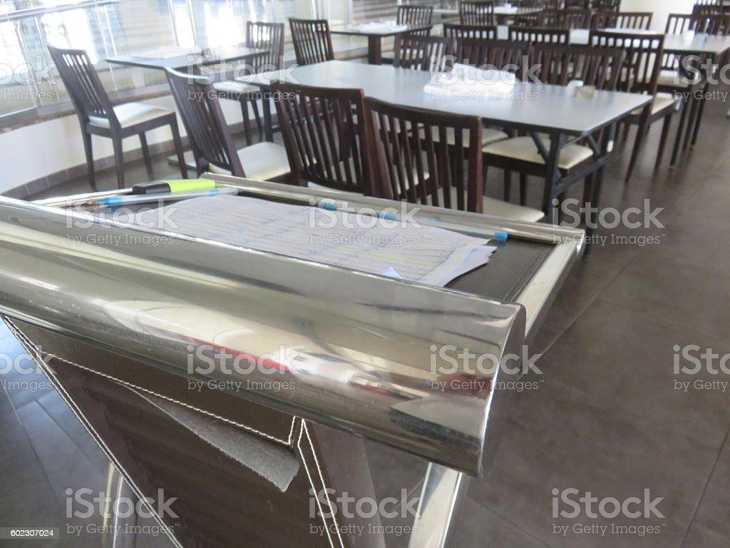 Restaurant guest list stock photo
