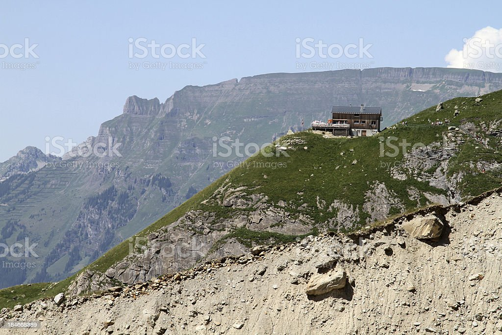 Restaurant high up in the mountains royalty-free stock photo