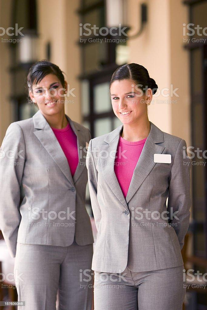 Restaurant hostess royalty-free stock photo