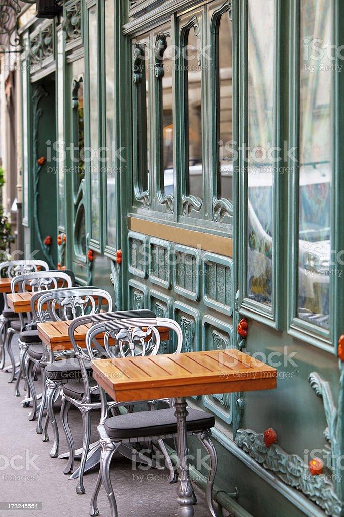 Restaurant in Art Nouveau Style, Paris, Saint Germain, France stock photo