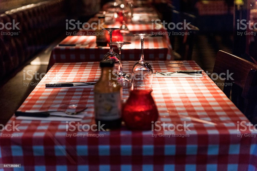 Restaurant in Bruges, Belgium stock photo