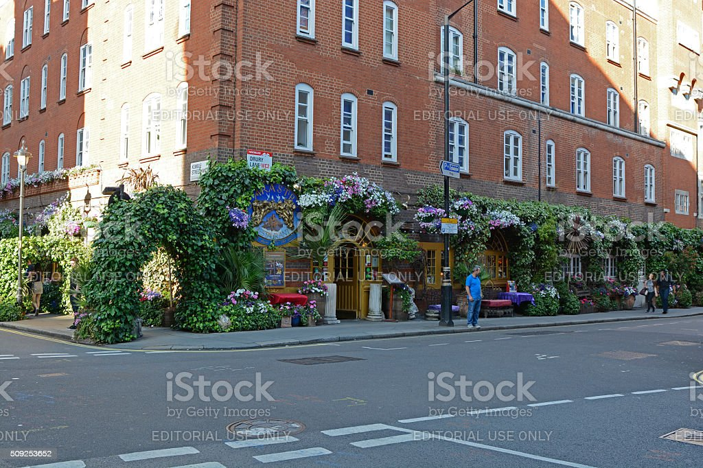 Restaurant in Covent Garden, London, England stock photo