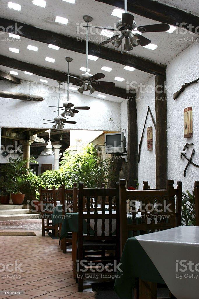 Restaurant in Cozumel, Mexico royalty-free stock photo
