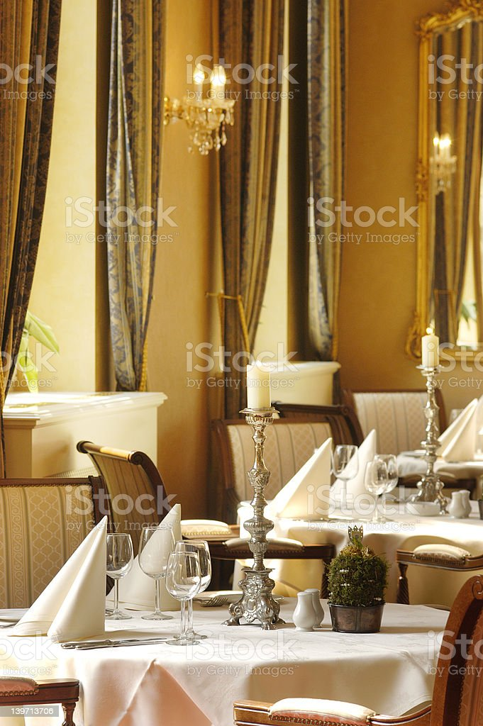 Restaurant in Hotel royalty-free stock photo