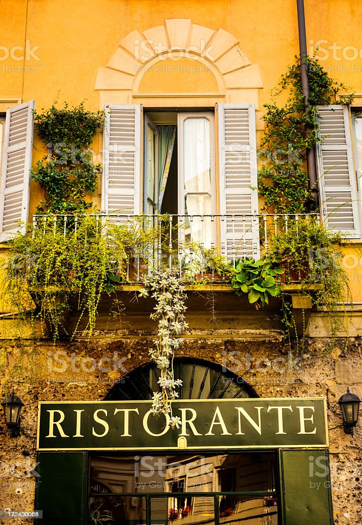Restaurant in Italy royalty-free stock photo