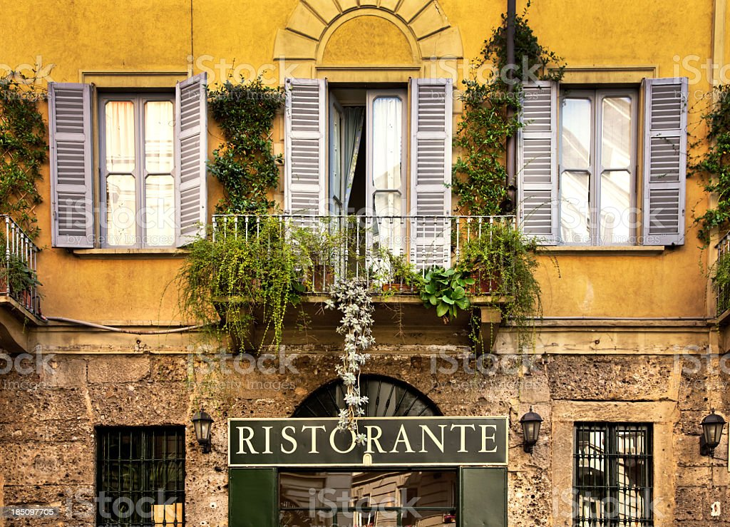 Restaurant in Italy stock photo