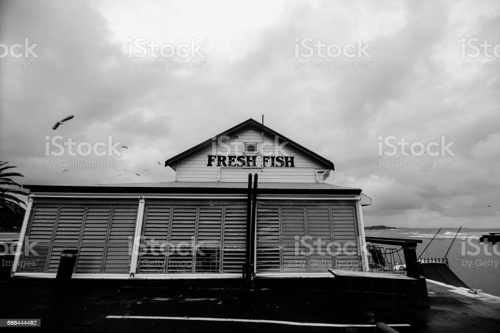 Restaurant in Kiama Leisure Port, New South Wales, Australia. stock photo