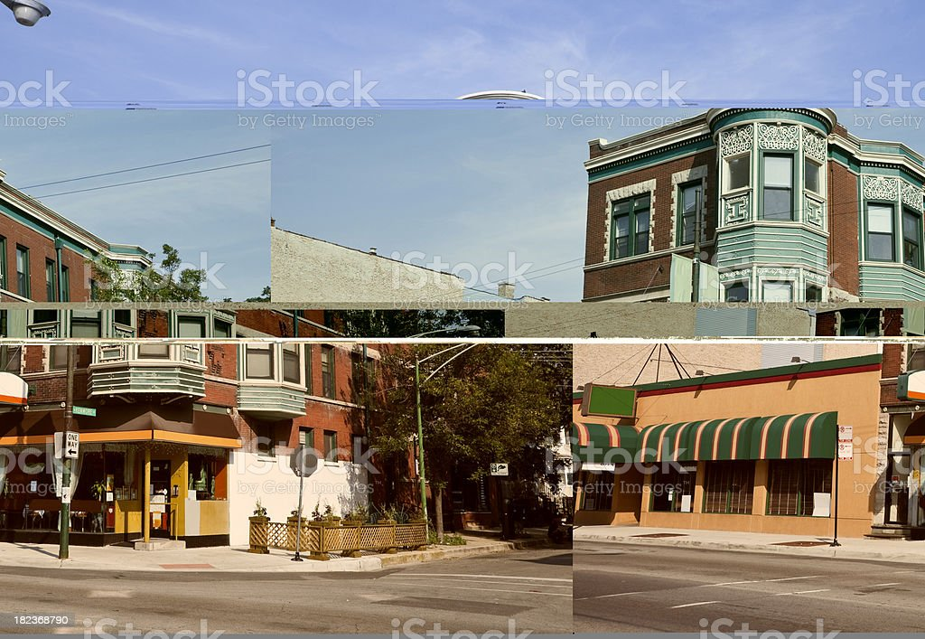 Restaurant in Lake View, Chicago stock photo
