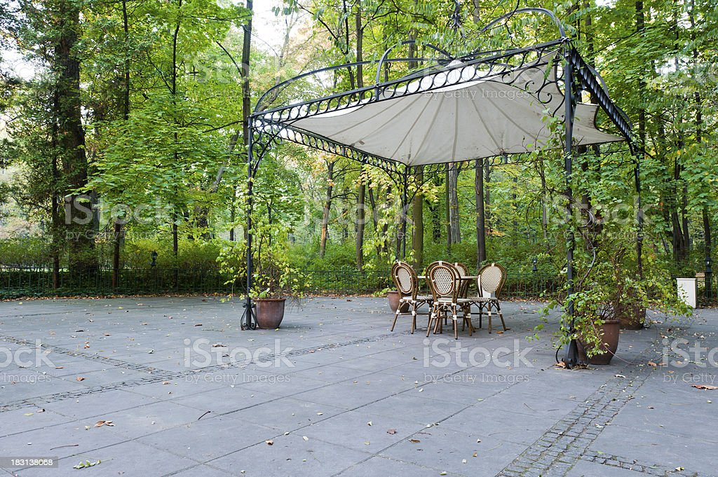 Restaurant in Lazienki Park stock photo