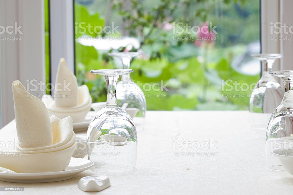 restaurant in nature royalty-free stock photo