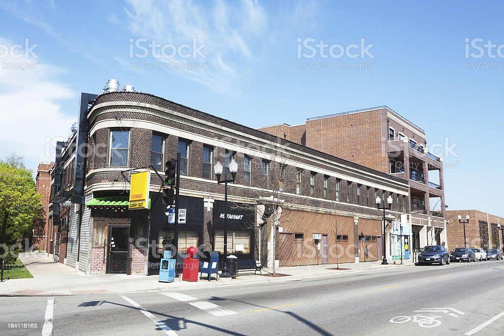 Restaurant in North Center, Chicago stock photo