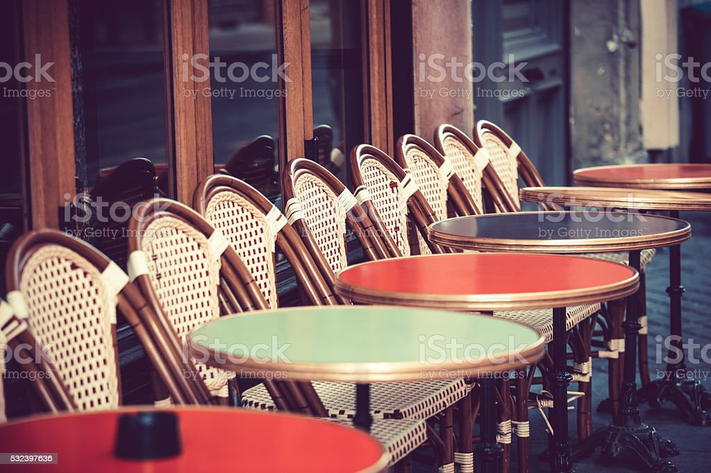 Restaurant in Paris, France stock photo