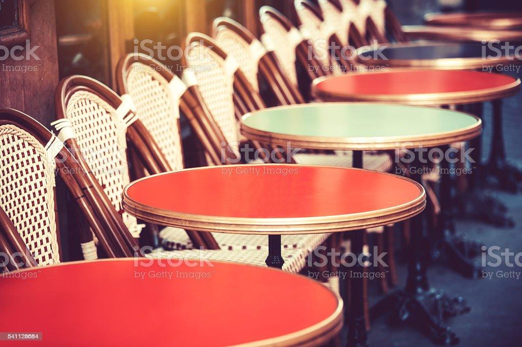 Restaurant in Paris, France stock photo