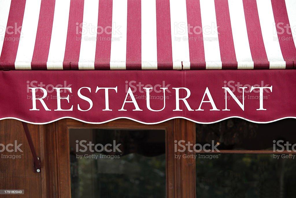 Restaurant in Paris royalty-free stock photo
