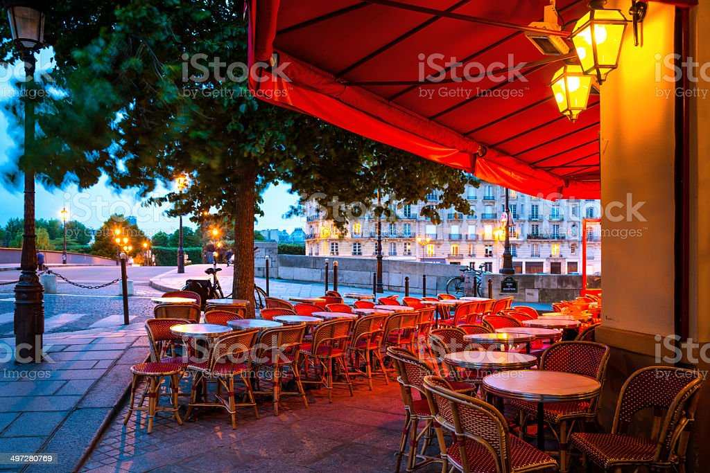 Restaurant in Paris stock photo