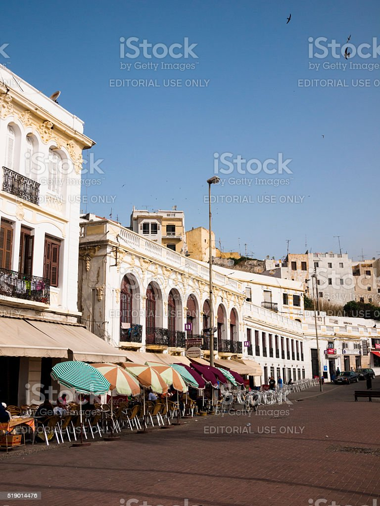 Restaurant in Tangiers, Morocco stock photo