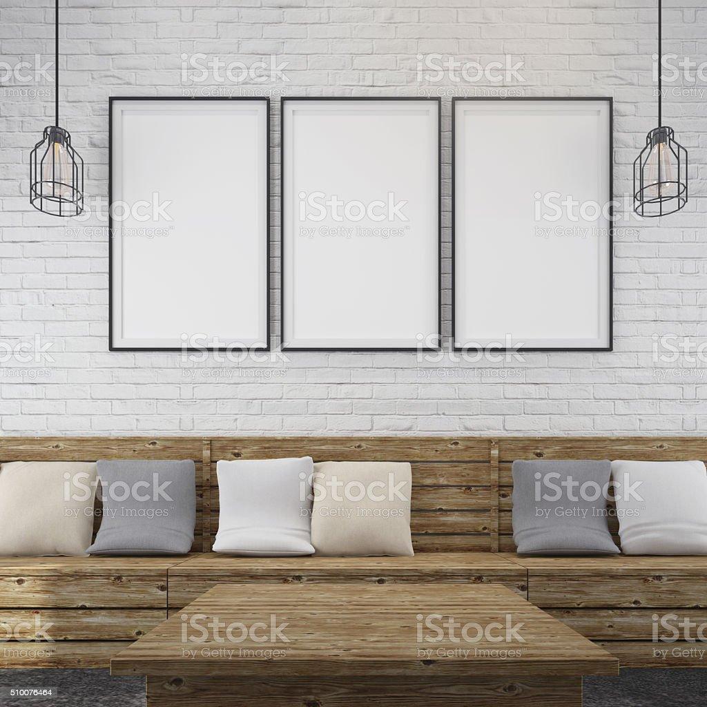 restaurant interior background stock photo