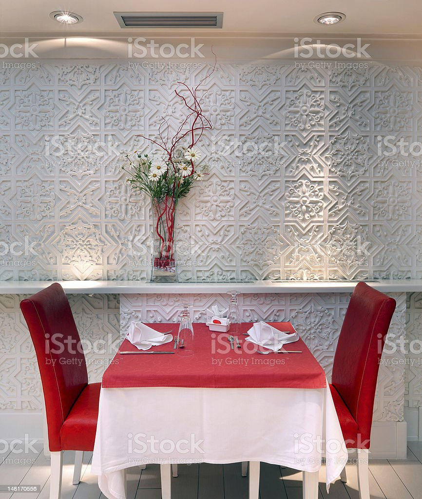 Restaurant interior royalty-free stock photo