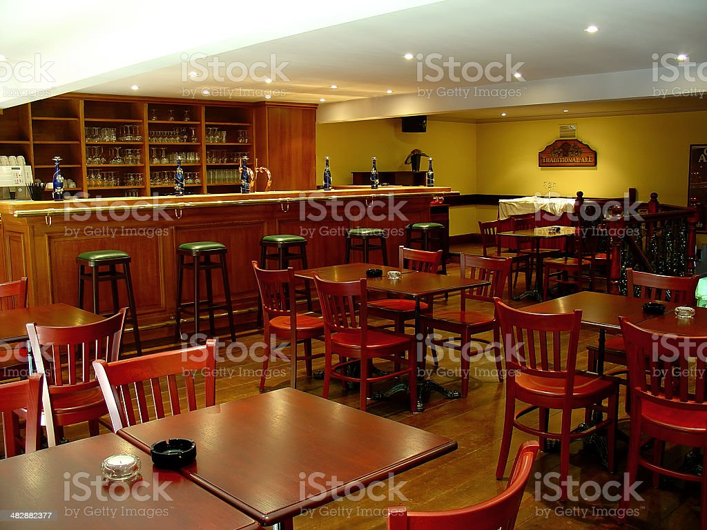 Restaurant Interior | Tables & Bar royalty-free stock photo