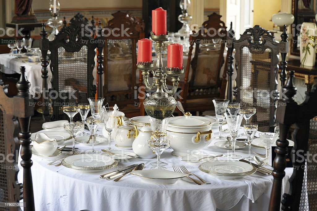 Restaurant interior, Trinidad, Cuba stock photo