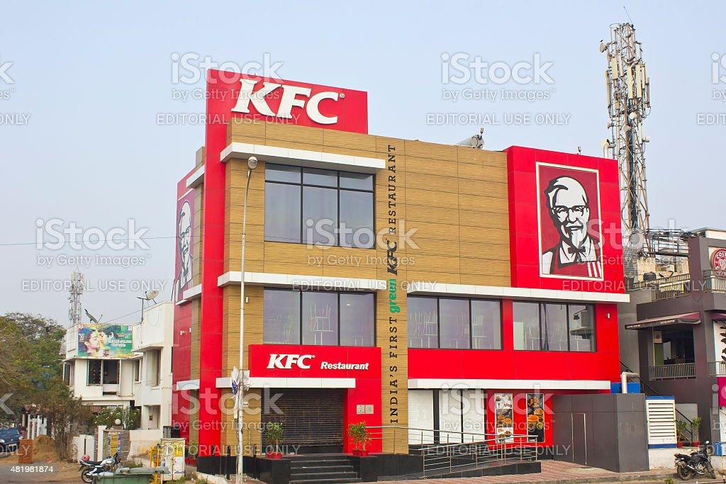Restaurant KFC in Chennai stock photo