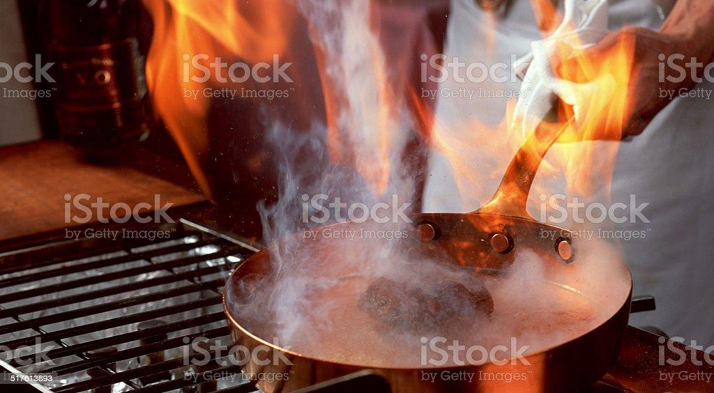 Restaurant kitchen stock photo