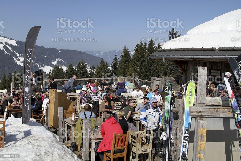 Restaurant La Baika Montagnes stock photo