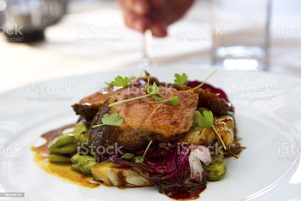 Restaurant Lamb fillet royalty-free stock photo