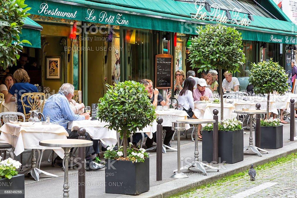 Restaurant Le Petit Zinc in Paris, France stock photo