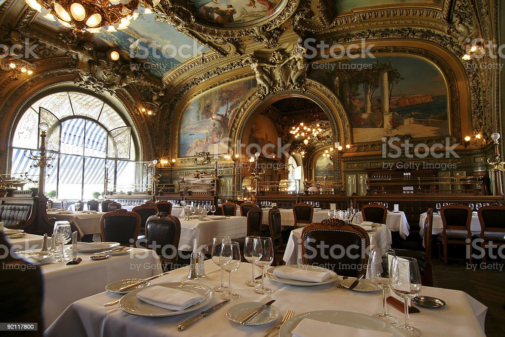 Restaurant Le Train Bleu in Gare de Lyon royalty-free stock photo